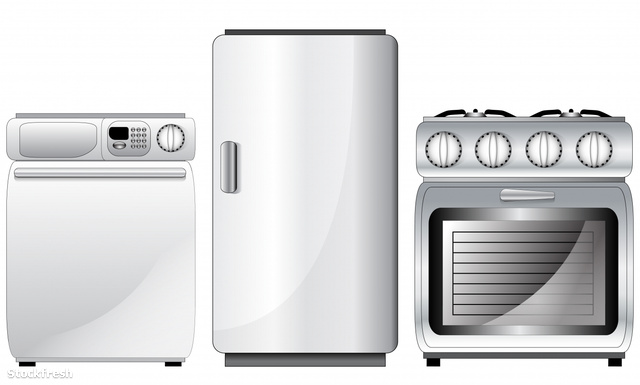 stockfresh 1370608 set-of-realistic-detailed-household-appliance