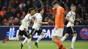 Németország a 90. percben sokkolta Hollandiát