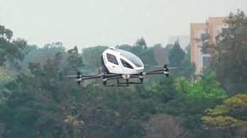 Életveszélyesnek tűnik a jövő dróntaxija