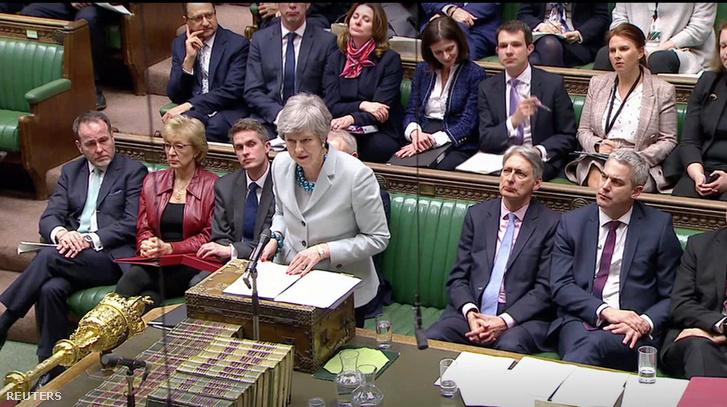Theresa May 2019. március 25-én.