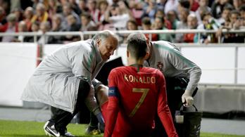 Eb-selejtező: C. Ronaldót fél óra után sérülten kellett lehozni