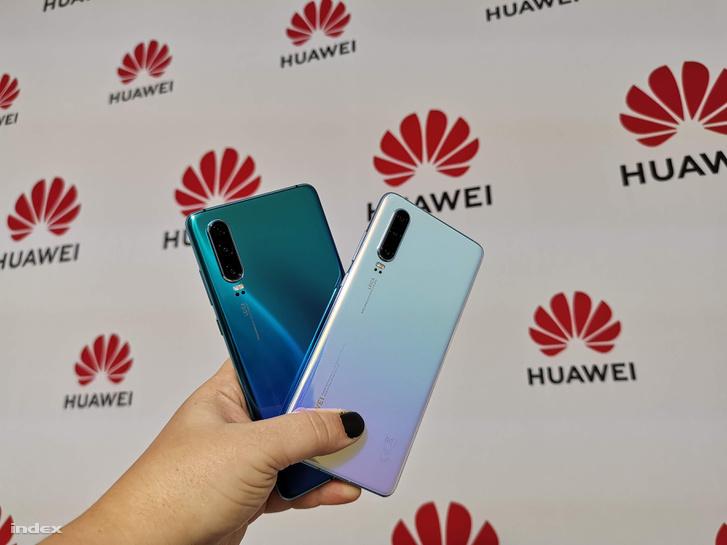 A Huawei P30 három kamerát kap a hátlapjára.