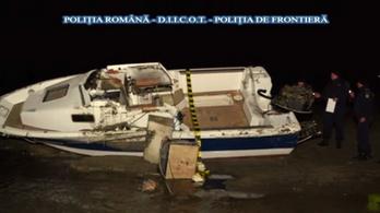Egy tonna kokaint találtak egy felborult bárka körül Romániában