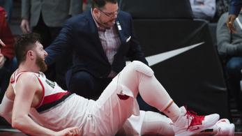 Horrorsérüléssel dőlt ki a szezonra a bosnyák NBA-sztár
