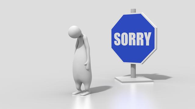 Bocsánat, elnézést, sajnálom!