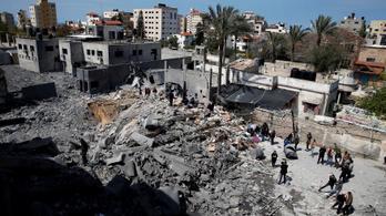 Az éjjel sem csillapodott a tűzpárbaj a Hamász és Izrael között