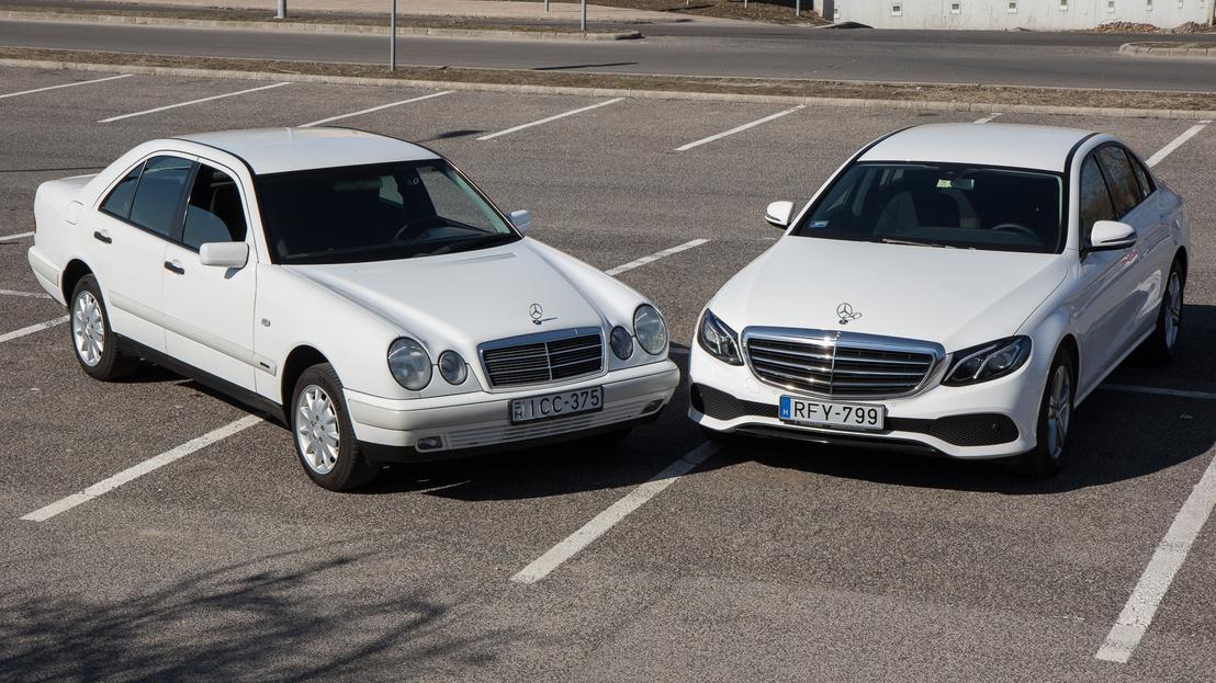 A friss, W213-as E osztály 6 centivel szélesebb, 10-zel hosszabb és 6-tal magasabb a W210-esnél. A W210-es a W124-est váltotta, utóbbival szemben a legkomolyabb kritika a szűkössége volt, így a W210-es borzasztó tágas lett, habár autóként aztán nem ért az előd nyomába. Az új W213 viszont még ehhez képest is hatalmas belül. Kimondható, hogy ezeknél nagyobb autóra szükség nincs, ha csak nem a reprezentálás a cél.