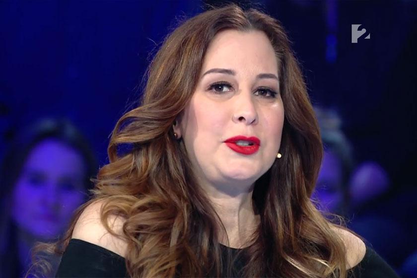Demcsák Zsuzsa a TV2 Pénzt vagy éveket! című vetélkedőjének március 26-i adásában.