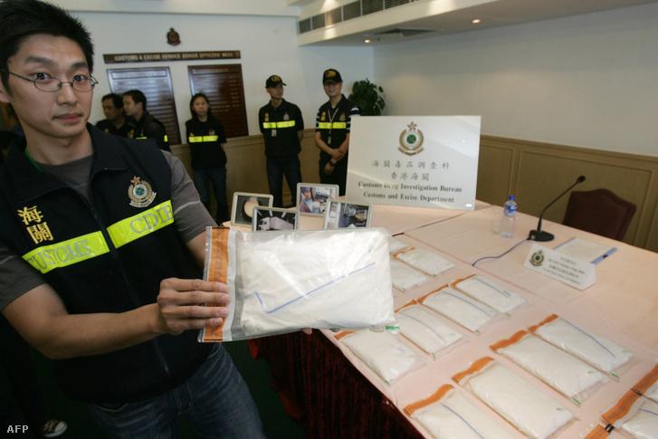 Hongkongi ketamin fogás, 50 kg magas minőségű anyagot foglaltak le 1,51 millió dollár értékben 2005. május 12-én