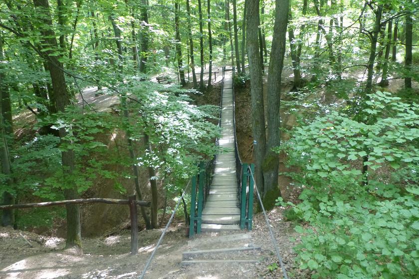 A Gyadai tanösvény függőhídja a páratlan szépségű Gyadai-rét leglátványosabb hídja. A 23 méter hosszú, 7 centiméter vastag tölgyfa függőhíd a mintegy 6 kilométeres tanösvény része, ami minden évszakban megér egy kirándulást.