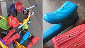 Rajzszöget tett a játékmotorokra, mert zavarhatta a gyerekzsivaj