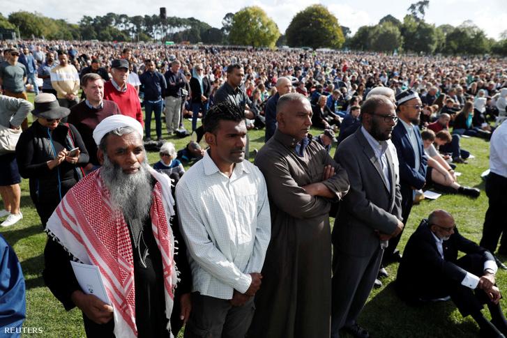 Megemlékezés Christchurchben 2019. március 29-én