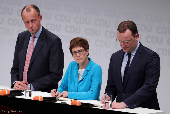 Friedrich Merz, Annegret Kramp-Karrenbauer és Jens Spahn