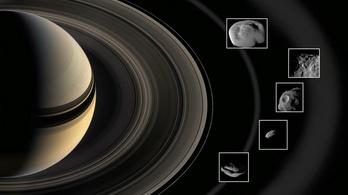 Közeli képeken a Szaturnusz gyűrűi közt megbújó miniholdak