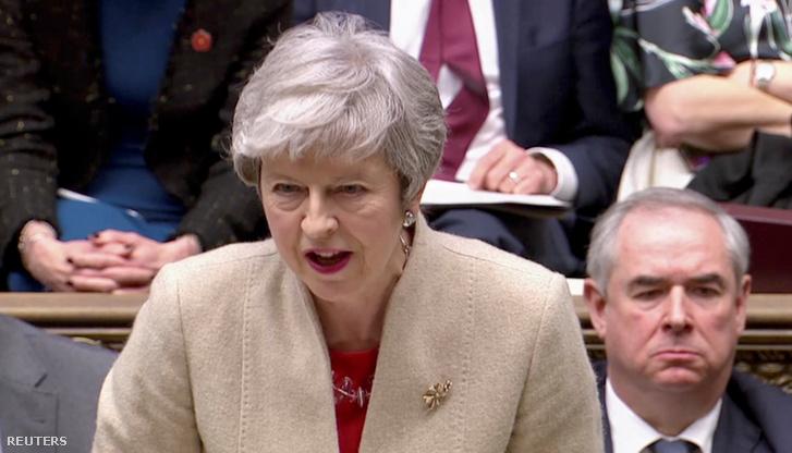 Theresa May 2019. március 29-én.