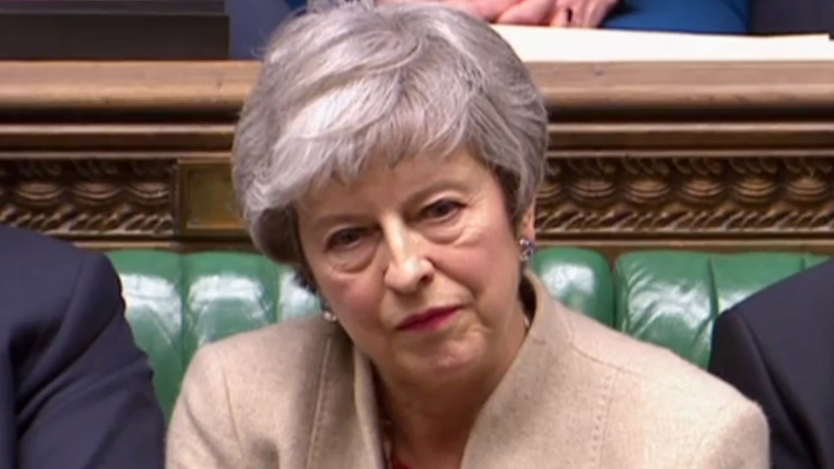 Brexit: harmadszor is elutasították May megállapodását az alsóházban