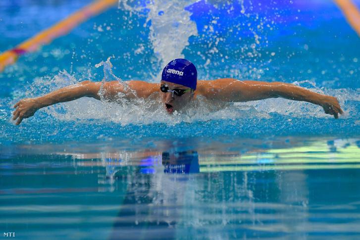 Verrasztó Dávid a 400 méteres vegyes úszás döntőjében 2019. március 29-én.