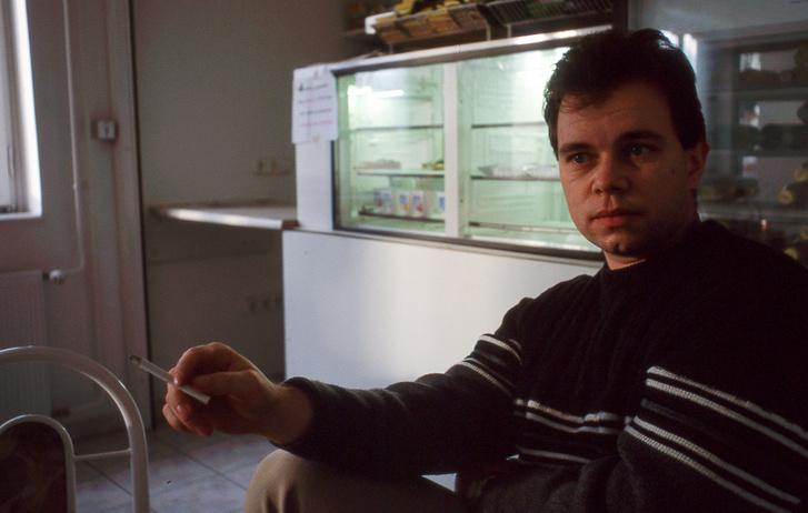 Papp Tibi a Motor-Presse büféjében, már a Hajógyári-szigeten