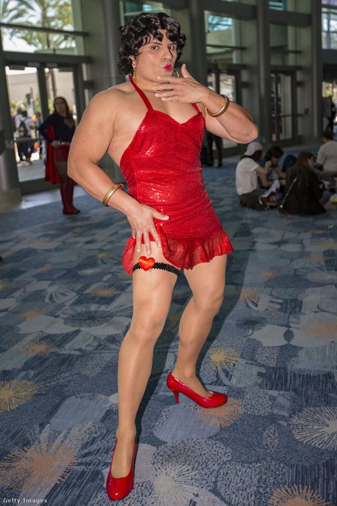 És ha mutattunk női Mariót, akkor jöjjön egy férfi Betty Boop is a végére