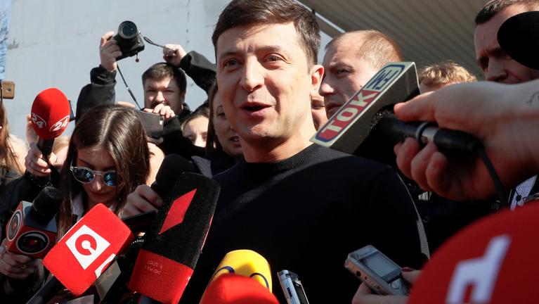 Bőven nyert a sorozatszínész az ukrán elnökválasztáson