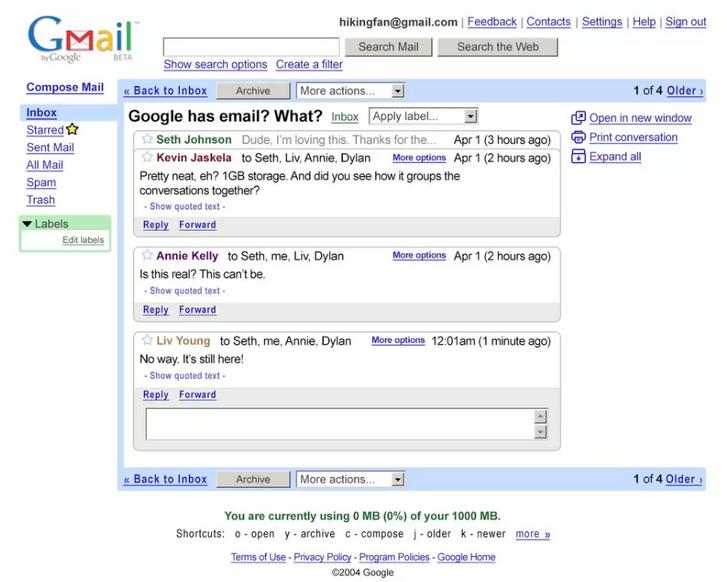 Ős-Gmail 2004-ből
