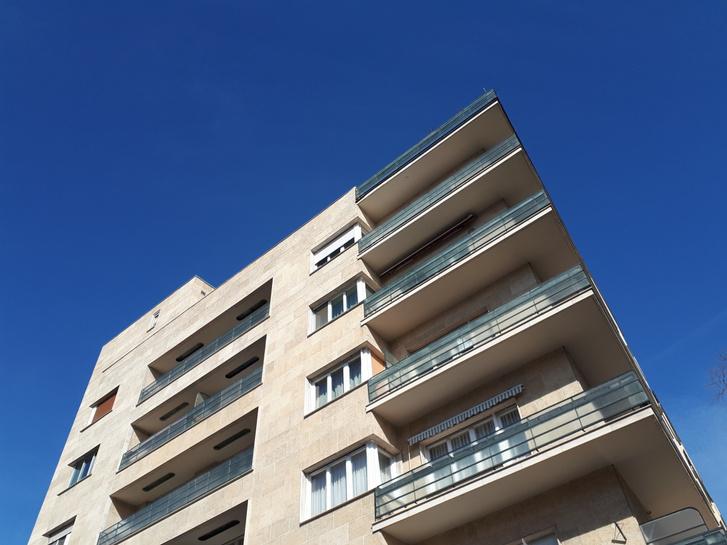 Szent István park, Újlipótváros. A budapesti Bauhaus legszebb példájaként emlegetik, valójában nem is az. Persze attól még szuper klassz Domány Ferenc és Hofstätter Béla épülete!