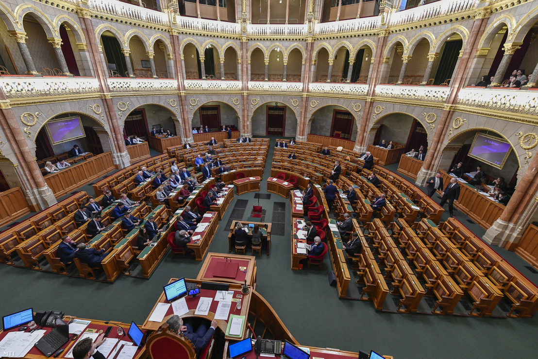 Az Országgyűlés plenáris ülése 2019. április 1-jén.