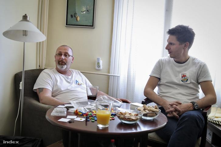 Hegedűs Csaba és Geri Ádám szervezők