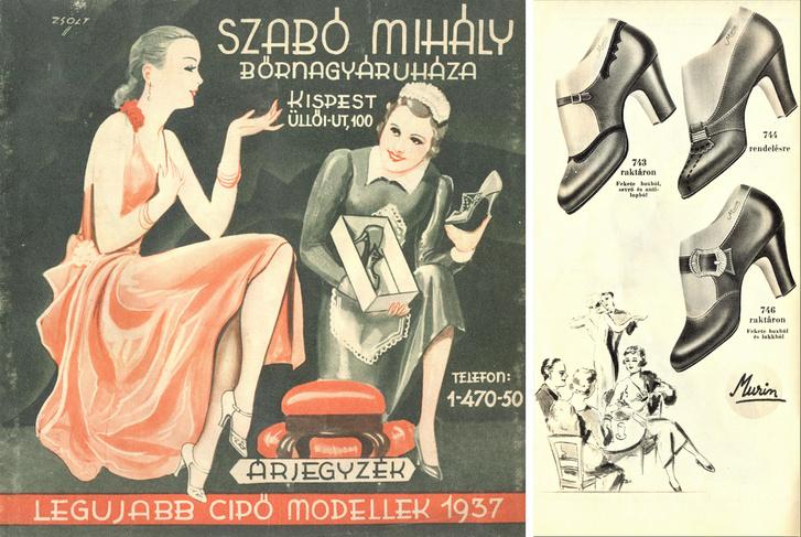Képek egy-egy cipőkatalógusból