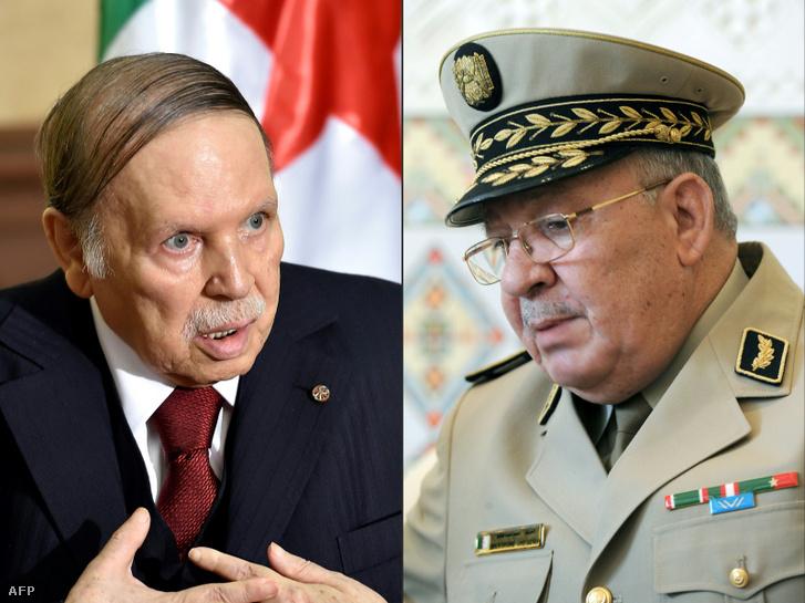 Abdel-Azíz Buteflika algériai elnök és Ahmed Gáid Szaláh algériai vezérkari főnök