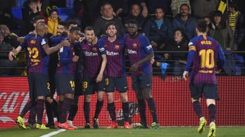 Villarreal-Barca: 0-2-ről 4-2, a vége 4-4