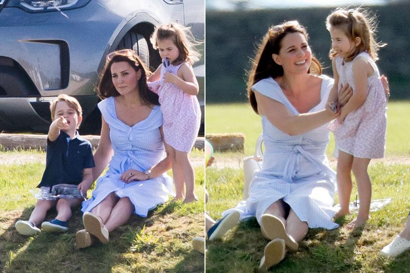 Katalin hercegnét tavaly nyáron fotózták le a távolból a kis György herceggel és Charlotte hercegnővel. Hát nem imádni valóak ezeken a képeken?