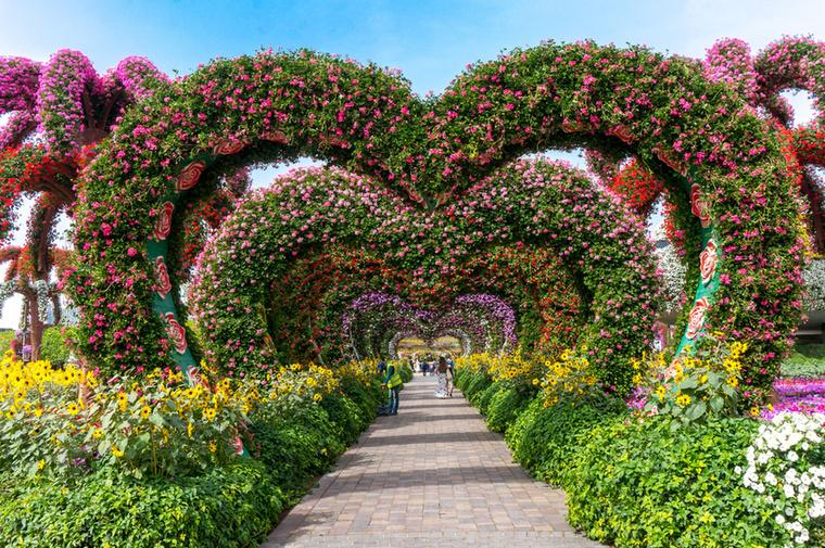 A szívfolyosó a Miracle Garden egyik legfotózottabb látványossága