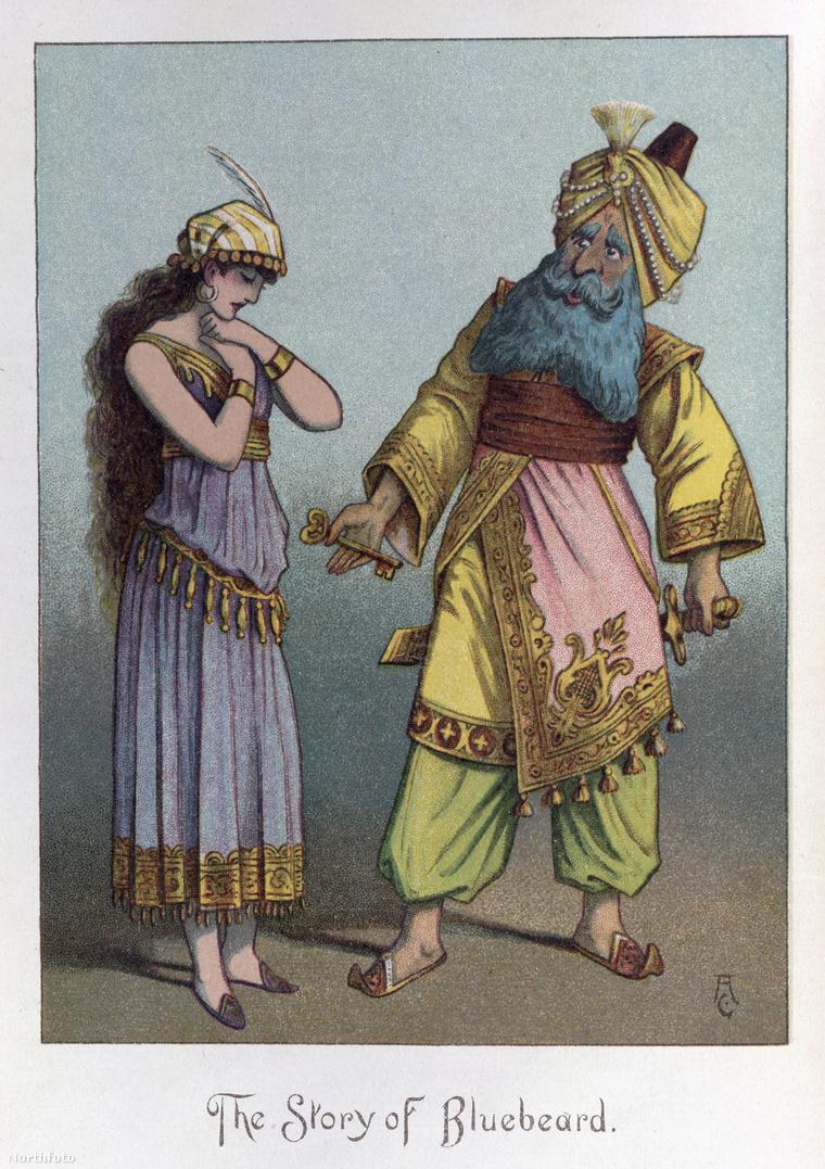 Egy illusztráció a kékszakállú herceg történetéhez 1890-ből. Bartók Béla 1911-ben írta meg az operát.