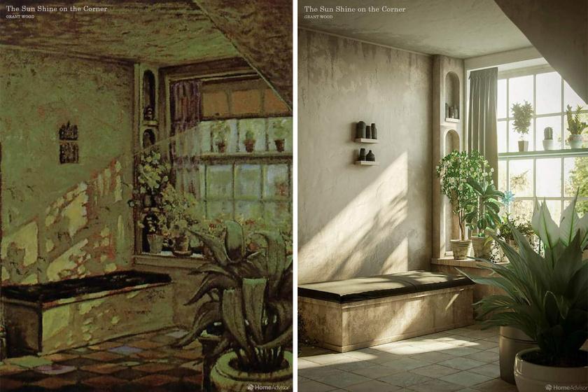 Ez a Grant Wood-festmény, vagyis a rajta látható szoba az életben még lenyűgözőbb lehetett, mint a vásznon.