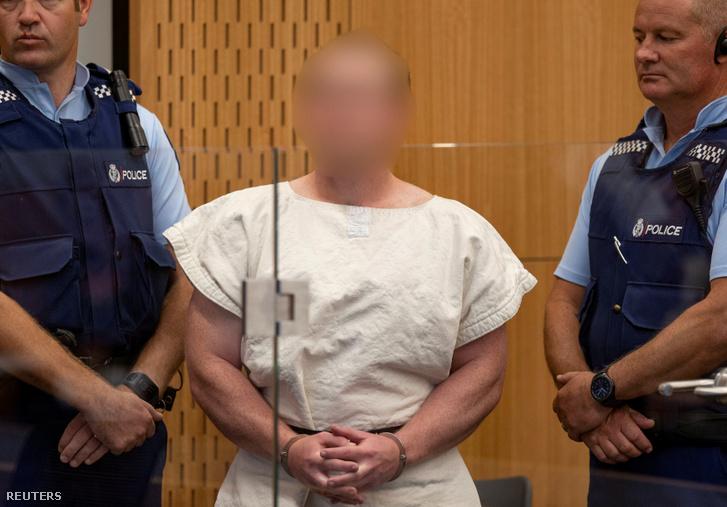 Branton Tarrant a bíróság előtt 2019. március 16-án