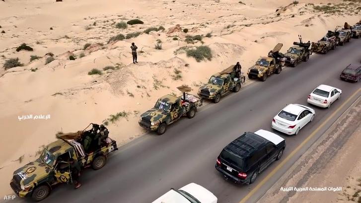 LNA katonai konvoj 2019 április 4-én