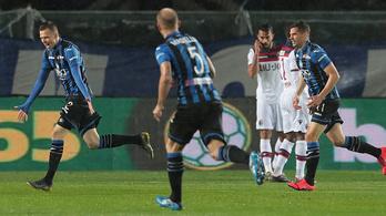 15 perc alatt négy gólt kapott a Nagy Adámmal felálló Bologna
