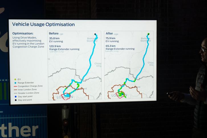 A Ford Telematics épp London szigorú zónájára optimalizál