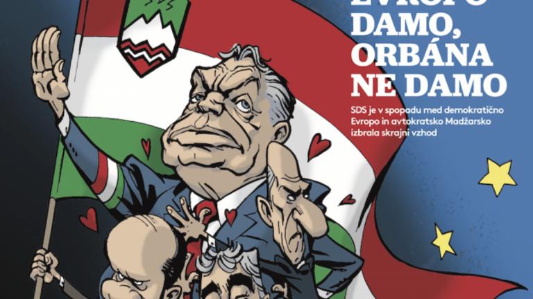 Szlovén Orbán-karikatúra miatt tiltakozik a kormány