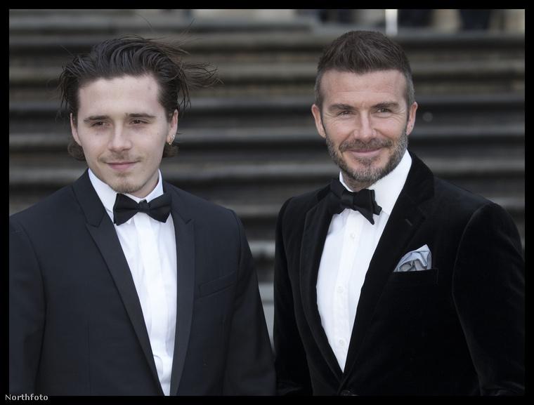 Az apa természetesen David Beckham, és a három közül ez a fia a legidősebb, Brooklyn.
