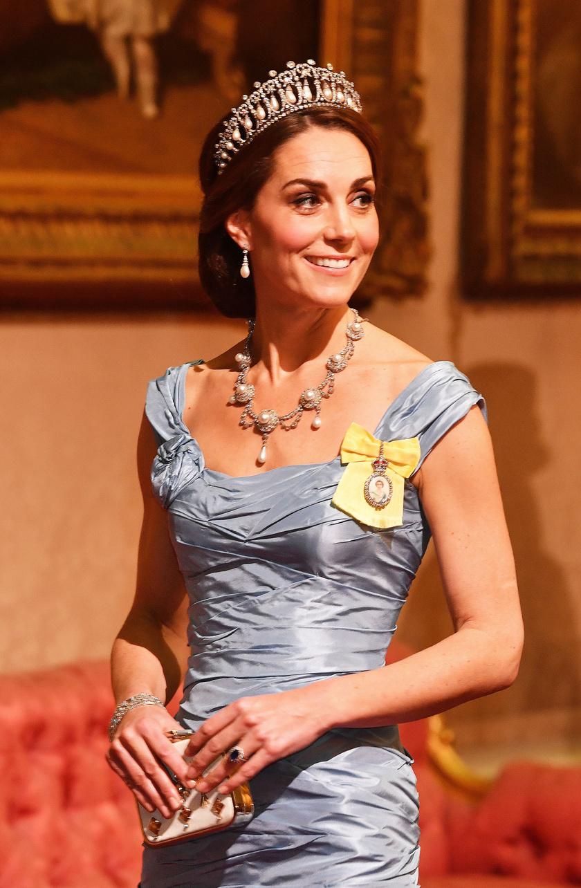 Katalin hercegnén gyakran látni Diana kedvenc tiaráját.