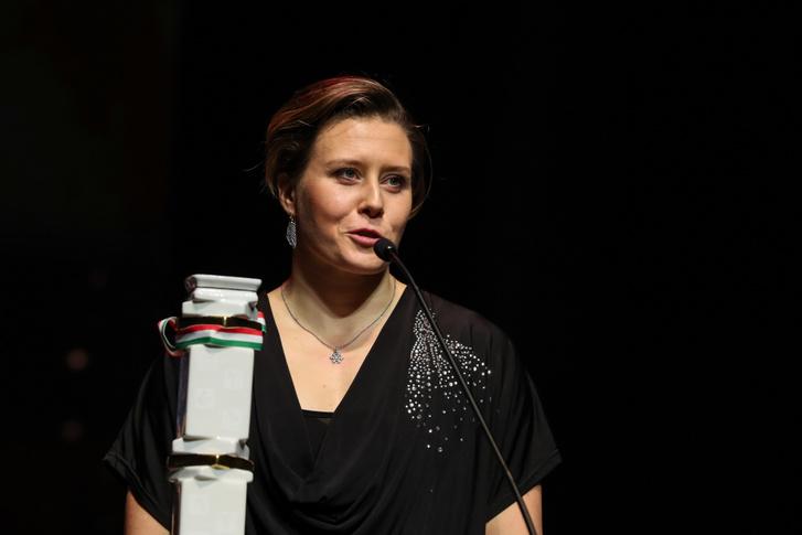 Kozák Danuta ötszörös olimpiai, tizennégyszeres világ- és tizenhatszoros Európa-bajnok kajakozó beszél, miután átvette az év női sportolója díjat 2019. február 14-án