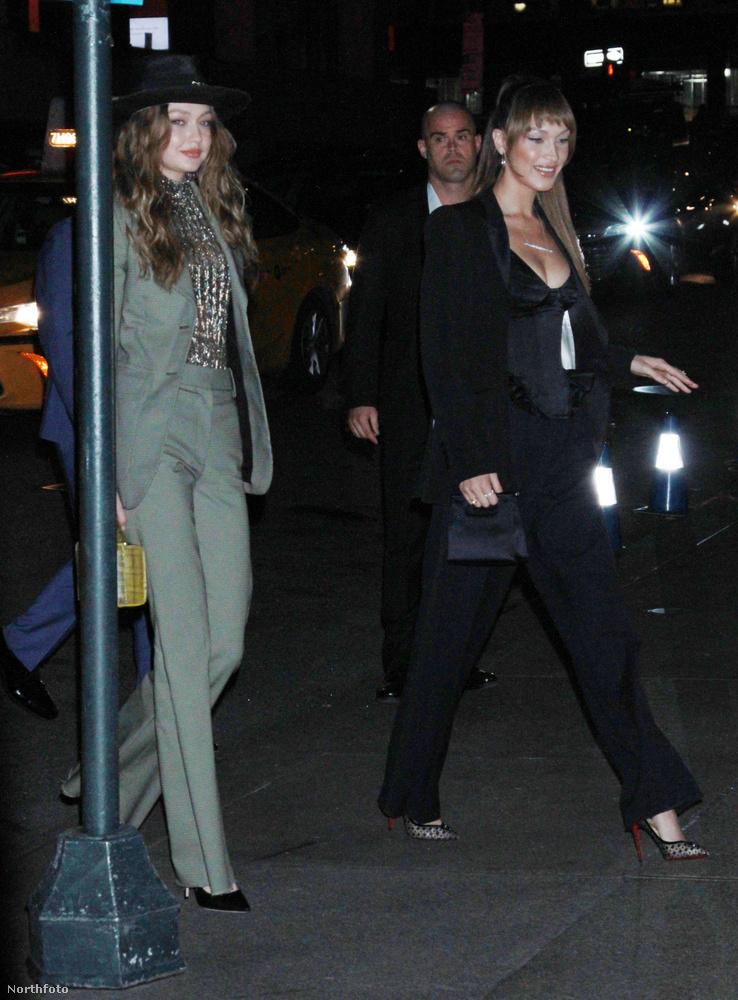 További modellkolléganők érkeznek itt a Hadid-nővérek személyében, ők Gigi és Bella.