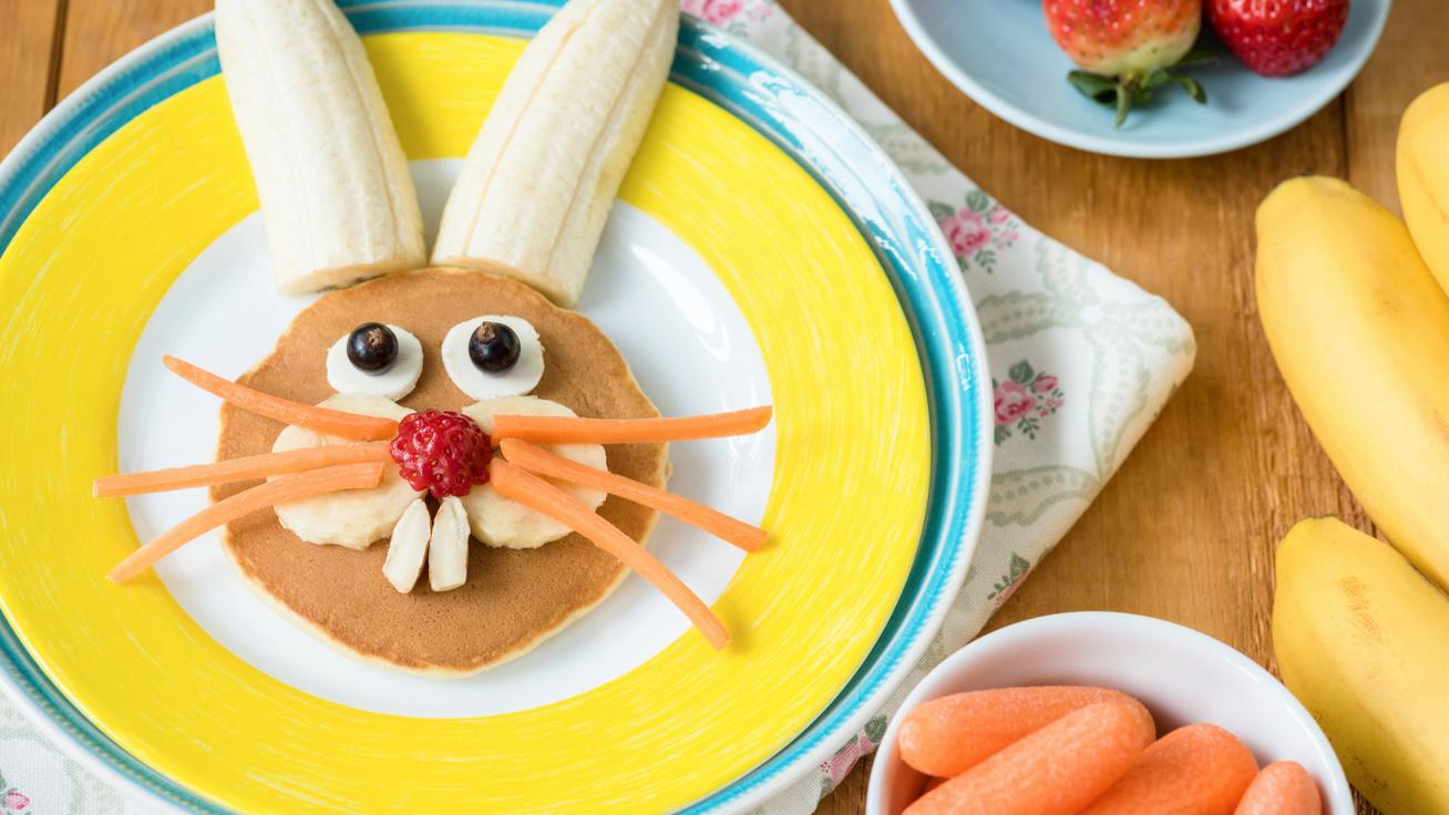 Banános-nyuszis amerikai palacsinta: fantasztikus ünnepi reggeli