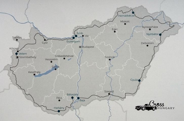 Cross Hungary - mind a két túra egyetlen térképen