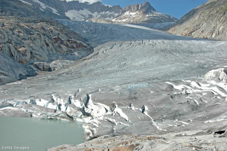 A Rhône-gleccser a svájci Alpokban