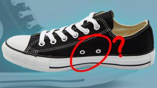 Mik azok a fura lyukak a tornacipő oldalán?