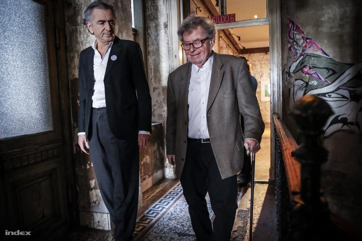 Bernard-Henry Lévy (b) és Konrád György