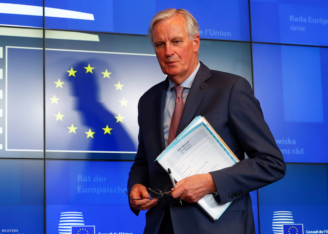 Michel Barnier Luxemburgban 2019. április 9-én.
